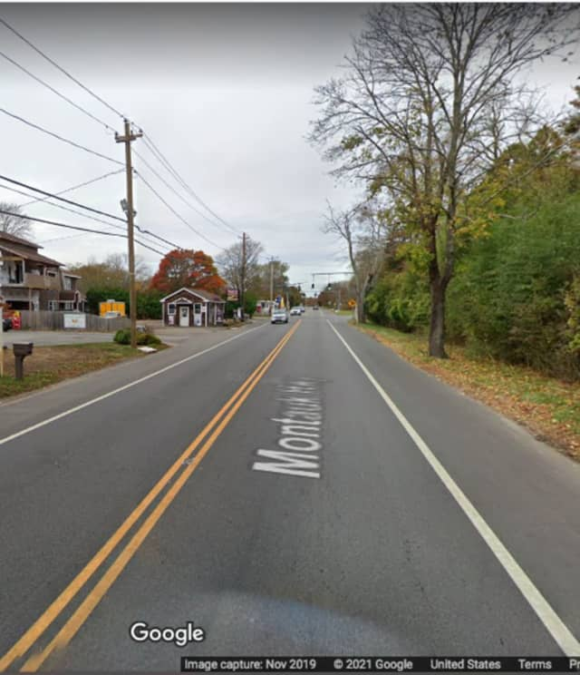 The area of Montauk Highway in Southampton where the incident happened.