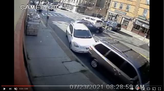 The moment the alleged drunk driver hits and the mother and baby.