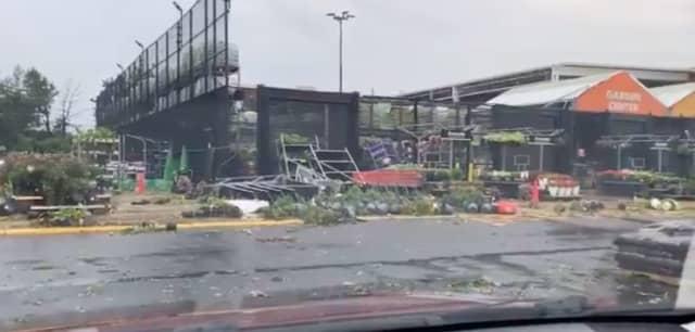 A tornado destroyed a Home Depot in Bensalem.
