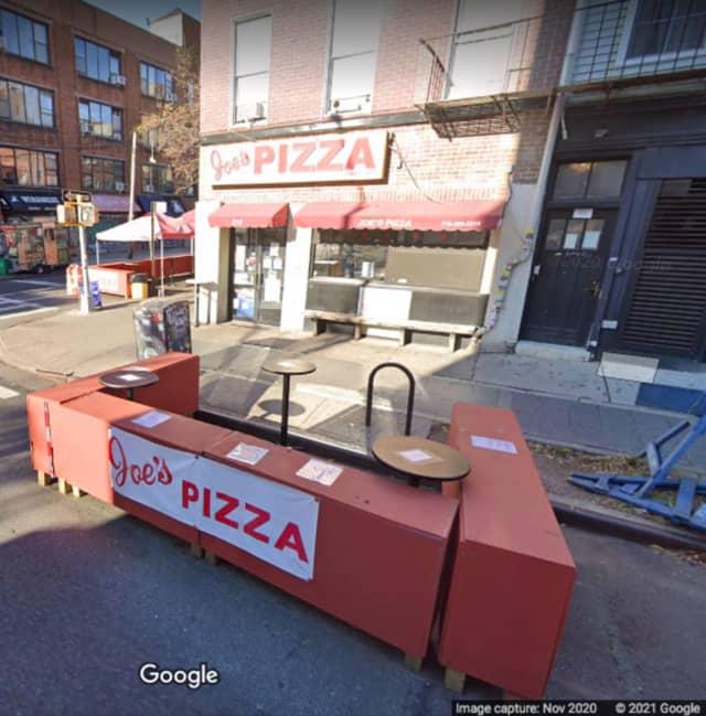 Joe's Pizza on Bedford Avenue in Brooklyn.