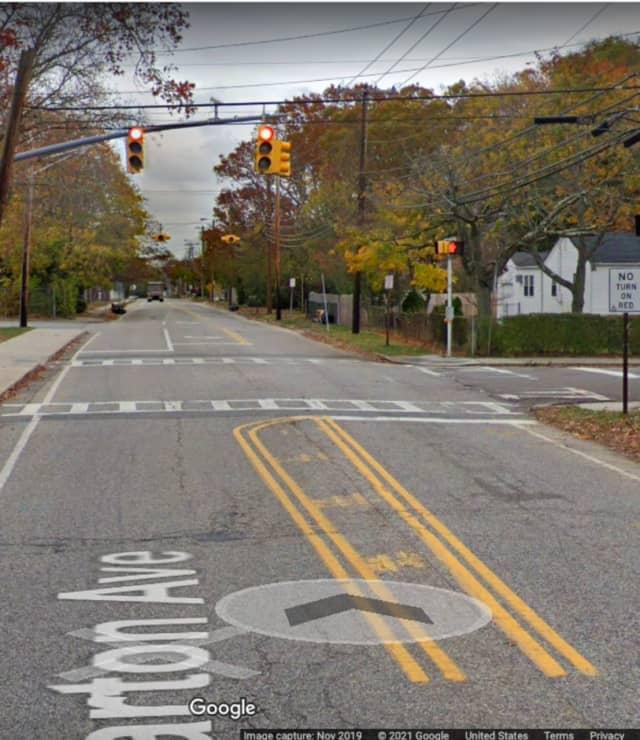 Barton Avenue and Washington Avenue in North Patchogue.