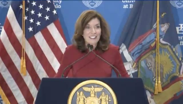 With just weeks in office, a new poll shows that New York Gov. Kathy Hochul has a good favorability rating.