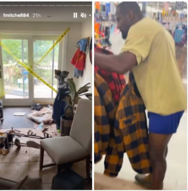 Former Eagles wide receiver Freddie Mitchell didn't have any clothes after being rescued from his Montgomery County home, so he went to Walmart -- in his undies.
