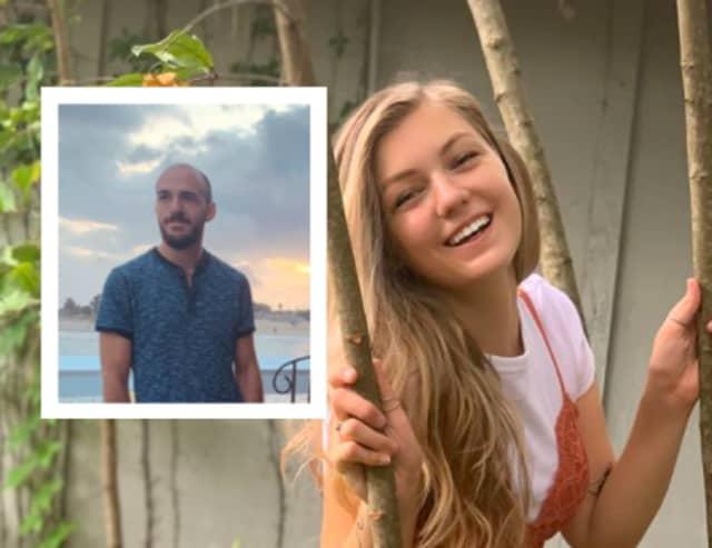 Gabby Petito and boyfriend Brian Laundrie (inset)