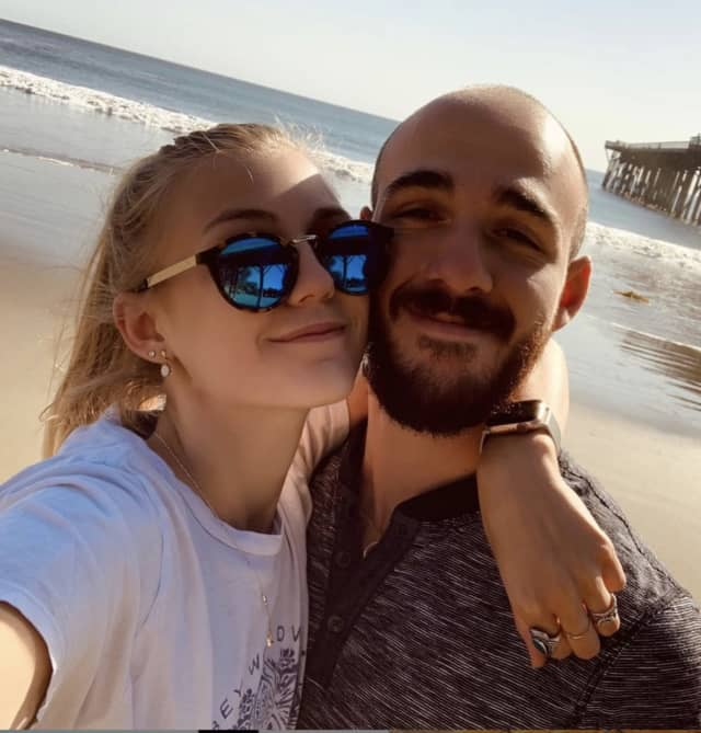 Gabrielle Petito with her boyfriend Brian Laundrie, who has been named a person of interest.