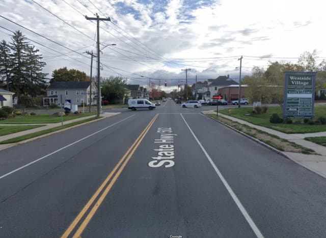West Center Street near the intersection of McKee Street in Manchester, where two people received life-threatening injuries during a four-vehicle crash.