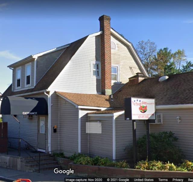 Three Stars Restaurant on West Hills Road in Huntington Station.