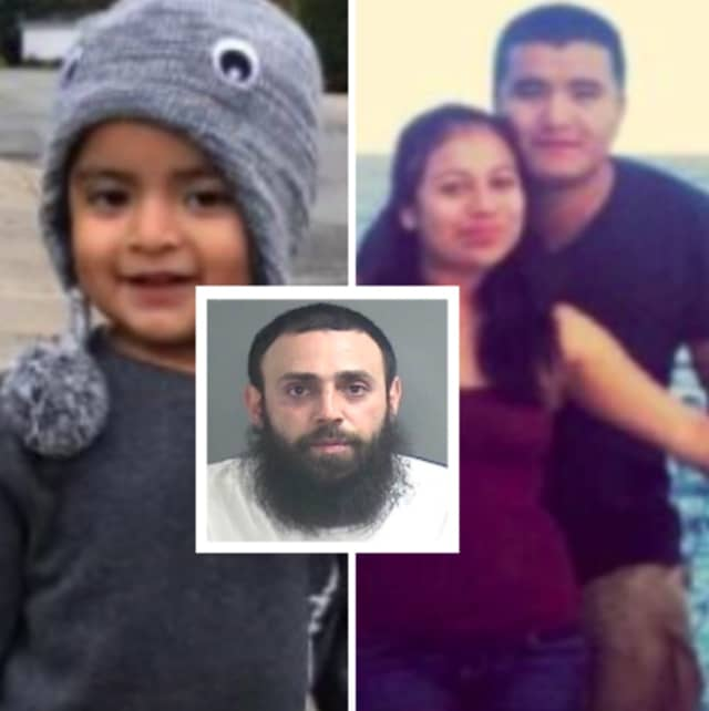 Modesto Pin (inset) was indicted in the November 2020 crash that killed Iban Garcia-Ruiz, 30, his wife, Elisa Perez-Hernandez, 32, and their son, Ivan.