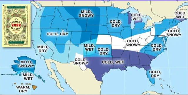 A look at the Old Farmer's Almanac's 2021-22 winter outlook.
