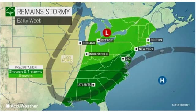 A look at the early week stormy stretch, starting Sunday night, Oct. 3.