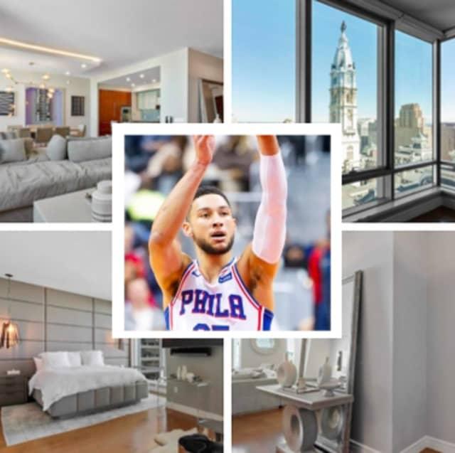 Philadelphia 76er Ben Simmons has listed his $3.1 million condo.