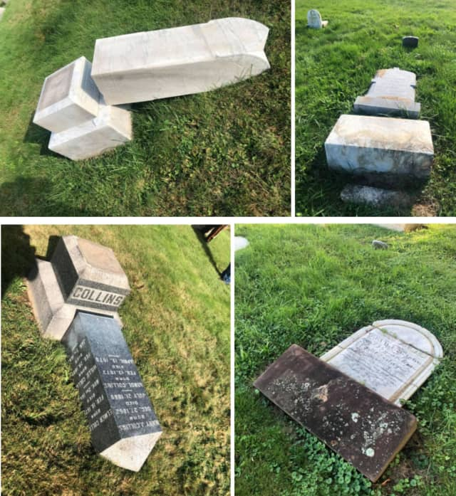 The historic Orchard Street Cemetery in Dover cemetery was brutally vandalized overnight Sunday.