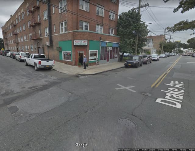 The area of the robbery in New Rochelle