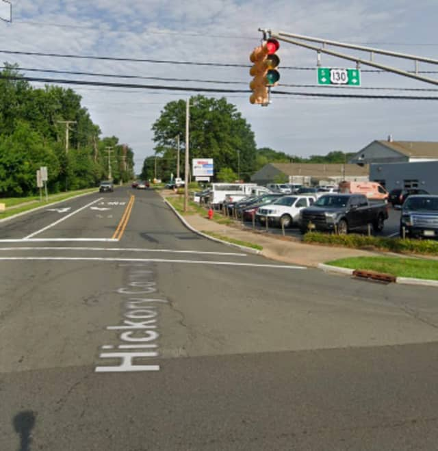 Route 130 at Hickory Corner Road