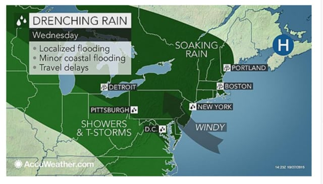 A coastal flood advisory has been issued for portions of New York and Connecticut.