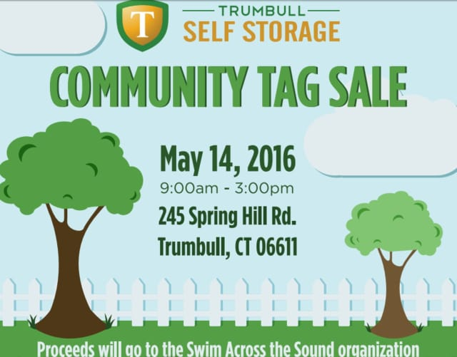 A community tag sale is scheduled for Saturday, May 14, at 245 Spring Hill Road, Trumbull. The proceeds will benefit Swim Across the Sound, a charity that helps fight cancer.