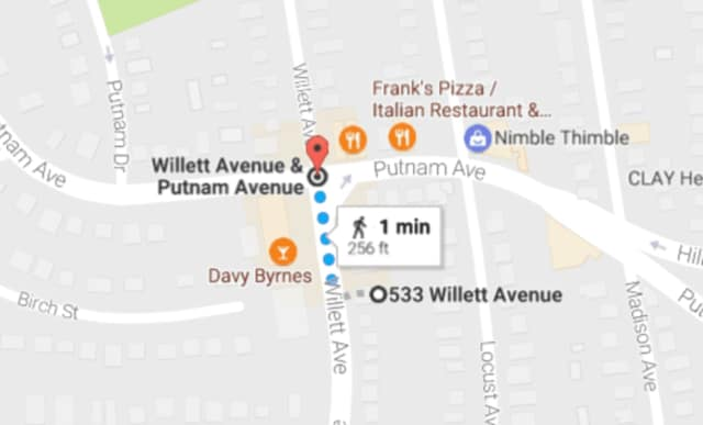 A 25-year-old Bridgeport man has been arrested in connection with a hit-and-run crash at 533 Willett Ave. in Port Chester. Police are trying to determine if a stabbing less than a block away is connected to the crash.