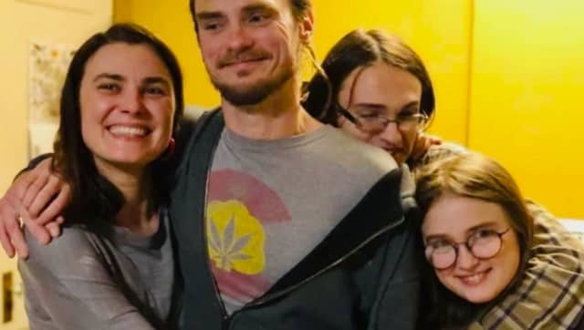 Nicholas A. Gardecki with his wife, Darya A. Gardecki, son, Sabai R. Gardecki, and daughter, Anya Gardecki.