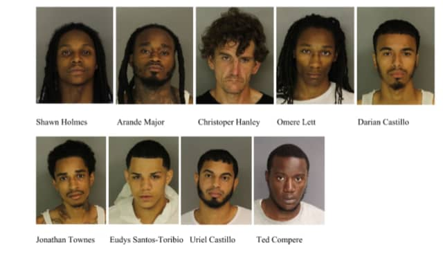 Several were arrested over the weekend in Newark on weapons and other charges.