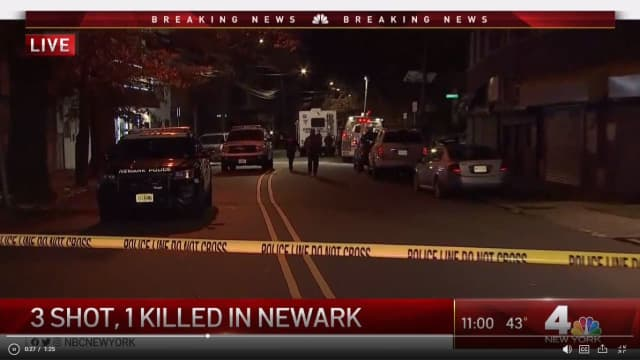 A 22-year-old was shot and killed in Newark Tuesday night