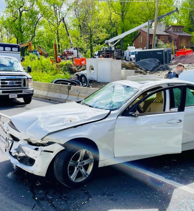 A car accident temporarily closed lanes on Pennsylvania Route 1 in Bensalem Thursday afternoon.