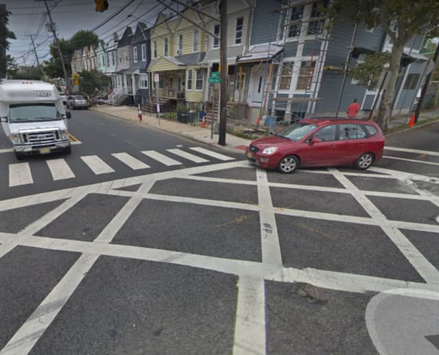 A woman died in Hudson County after she was hit by a truck Monday, authorities said