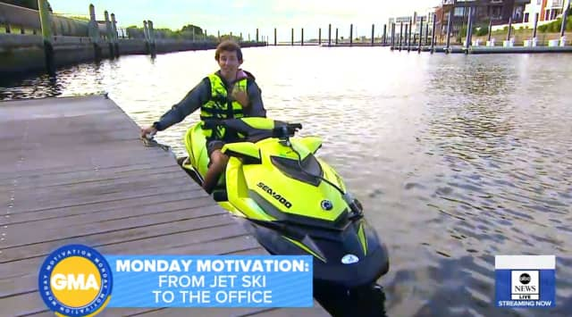David Pike and his traffic-beating jet ski