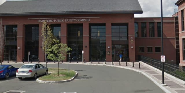 The Hartford Public Safety Complex. A detective was recently suspended following an internal investigation into a confrontation he had with two teens.