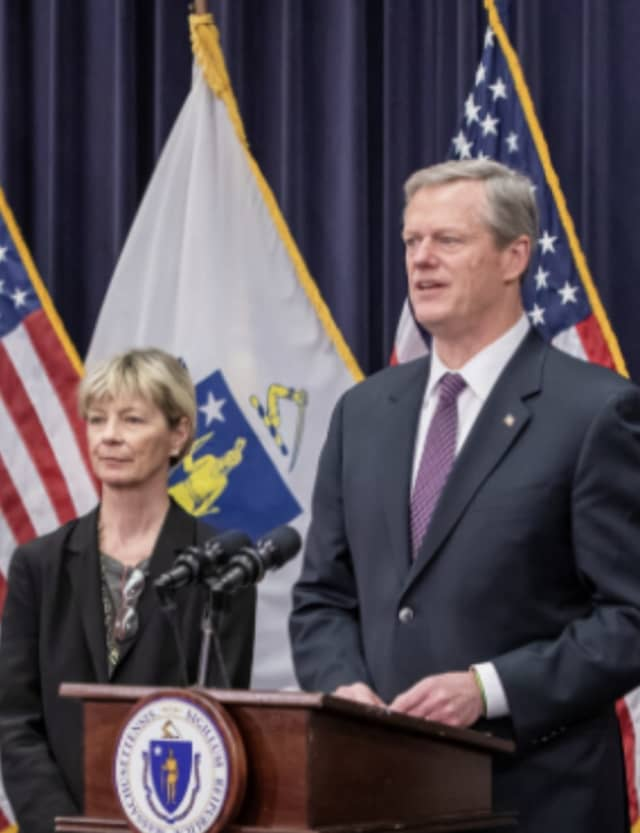 Massachusetts has recently seen an uptick in COVID-19 infections. Baker said people getting together in close quarters is aiding in the virus' spread.
