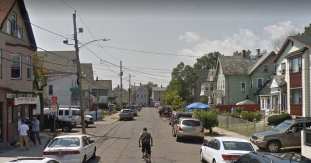 Six people were shot in New Haven's Hill neighborhood on Sunday, Aug. 16. Streets involved in the incident include Rosette, Hurlbut, and Wilson. Pictured here is an ordinary day at the Rosette-Wilson street intersection.