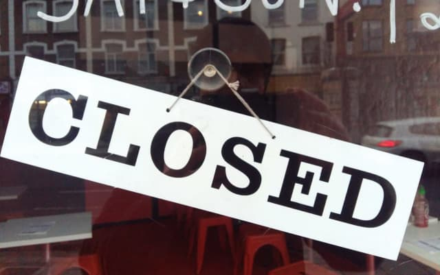 Although businesses throughout the country have been adversely affected, Connecticut stores have been especially hard-hit—in New York, New Jersey and the country as a whole, only a quarter of businesses have been forced to close their doors.