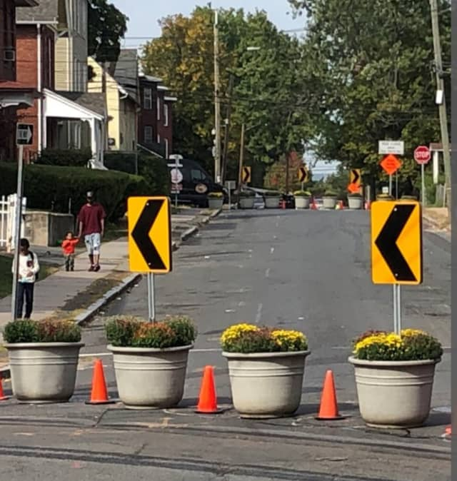 """Hartford is testing out some """"traffic calming"""" measures in a part of the city known as Frog Hollow."""
