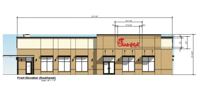 Plans for a new Chick-fil-A have been submitted to the Manchester Planning Department.