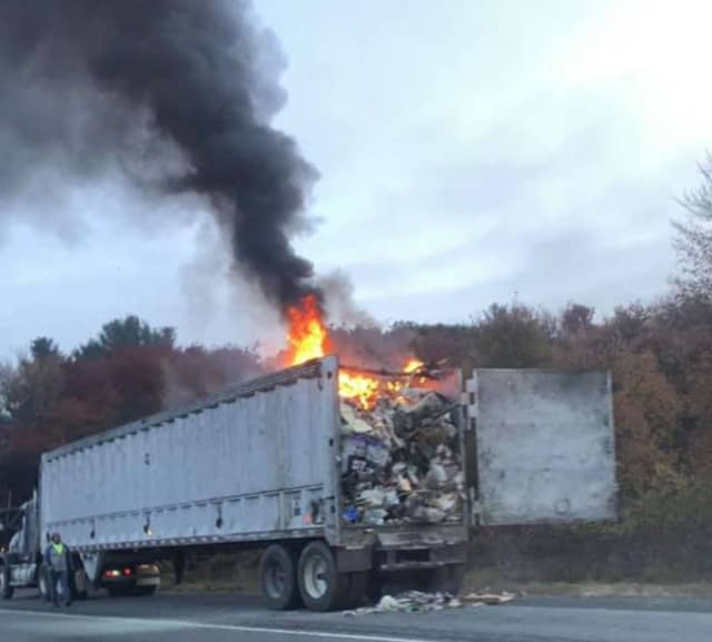 Tractor-trailer fire Tuesday, Oct. 20