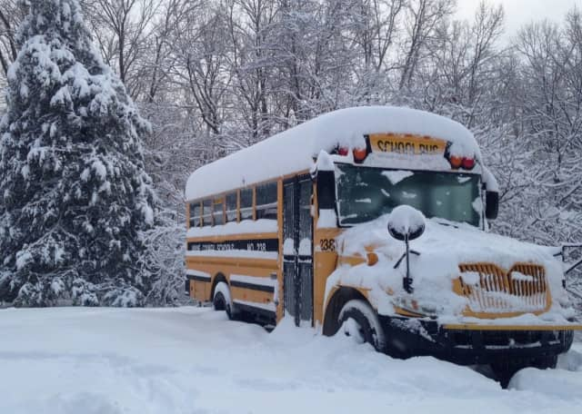 Bus in the snow