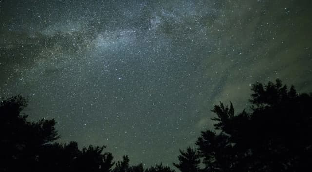 Photo illustration of night sky