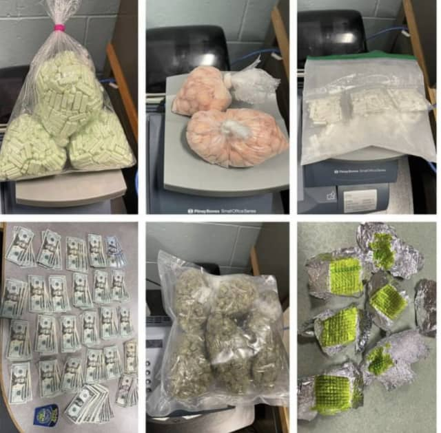 Illegal narcotics allegedly seized during a traffic stop on Route 56