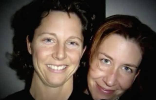 Undated photo of Cara Rintala (left) and Annamarie Cochrane Rintala