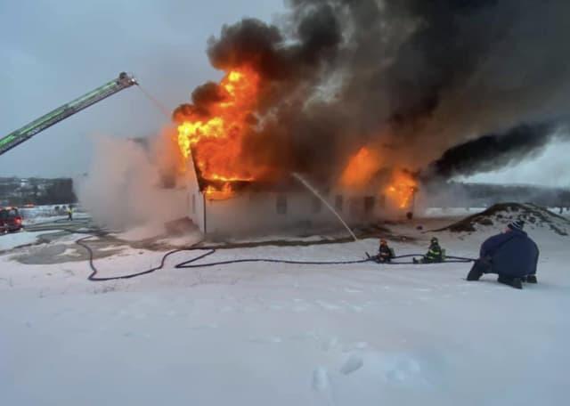 Fire at Runaway Brook Road
