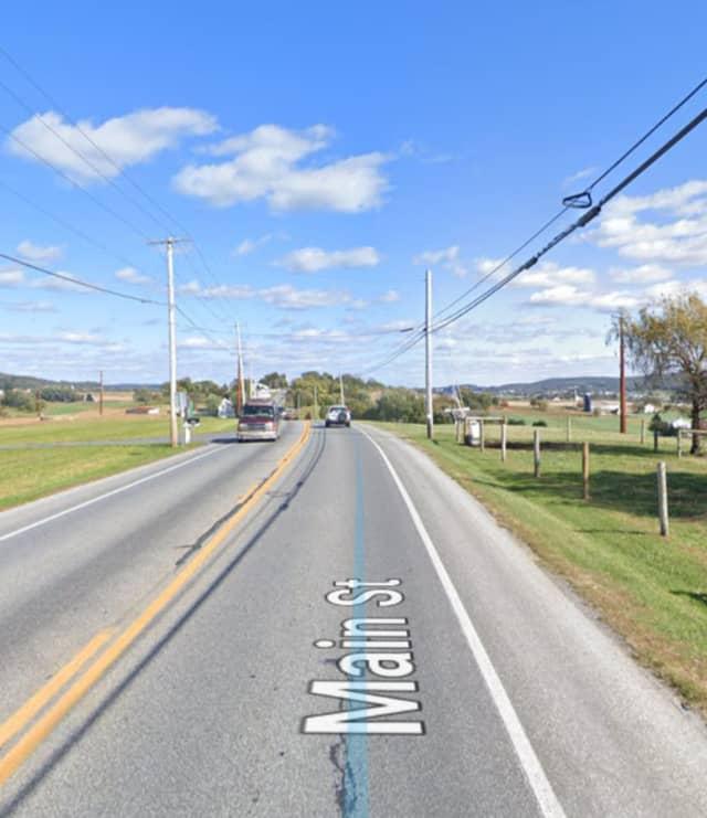 2500 block of Main Street in Caernarvon Township, Lancaster County.