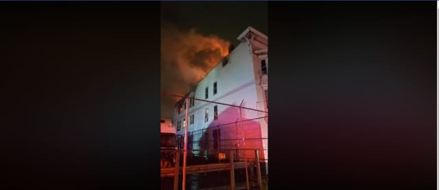 A total of 26 people were displaced when fire burned through a multifamily home in Newark Saturday