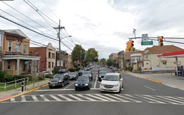 A man was killed in a vehicle collision at this North Bergen intersection early Sunday morning. A New Milford woman has been charged.