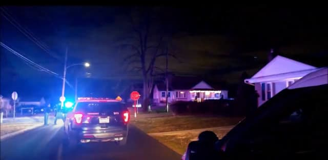 A man accused of firing a shot inside his home is in custody after he led police on a multi-state chase that started in Delaware County.