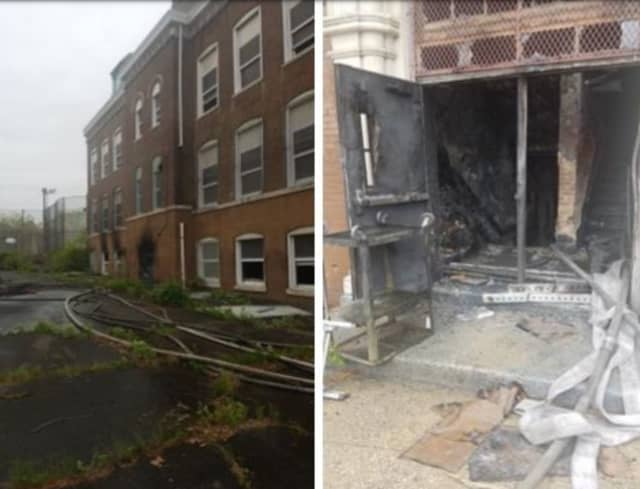 About 90 firefighters responded to a vacant high school in Newark Wednesday afternoon.