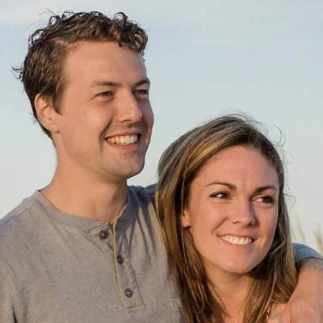 New Rochelle residents Sean Flanagan and his wife, Kate. Flanagan is the founder of iLLy Face.