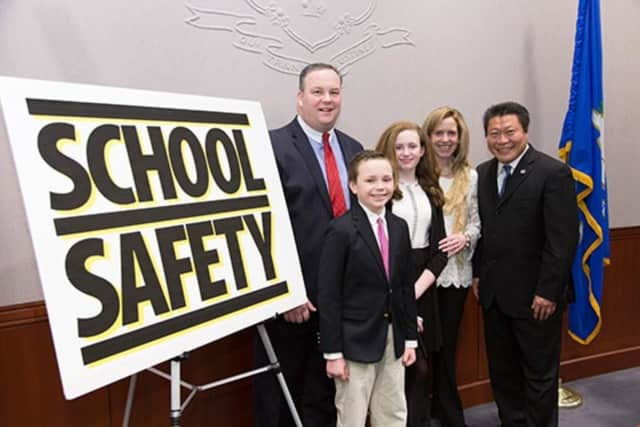 Sen. Tony Hwang said that the recent bomb threat at a school in Easton highlights the need for stronger school safety laws.