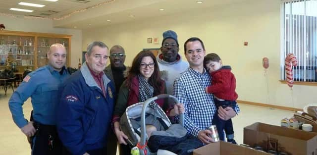Sen. David Carlucci along with his family and members of the Veterans Angels Association gathered together turkeys and all the makings for holiday meals for veterans in need.