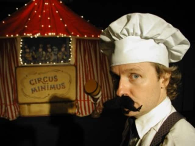 """Kevin O'Keefe will perform his one-man act """"Circus Minimus"""" on Larchmont Day."""