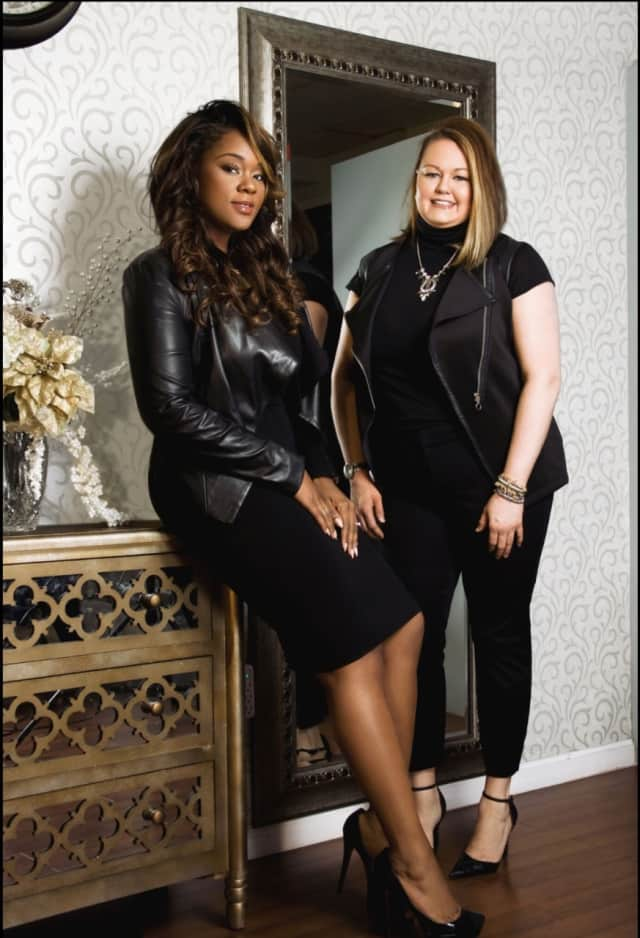 ShaQueen Valentine and Danelle Aune, the owners of Vanity Studio.