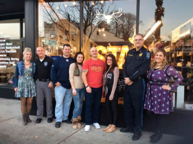 Stag House donated shaves to members of the Glen Rock PBA.